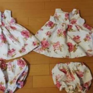 双子 ドレス 80cm 2枚セット