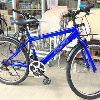 クロスバイク(青)
