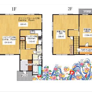 ■読谷村マンスリー大型一軒家■無料駐車場3台■即入居可能