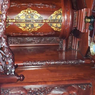 紫檀 無垢材のくり抜き仏壇