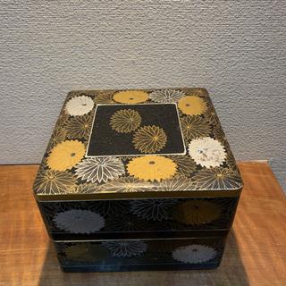 塗り重箱 螺鈿 蒔絵 アンティーク