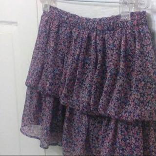 500→100円‼️大幅値下げ‼️紫ミニスカート