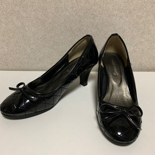 黒靴 エナメル M