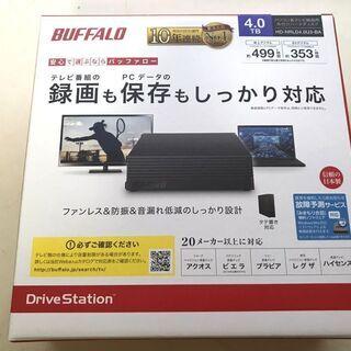 ★新品未開封★バッファロー 4TB 外付けHDD  HD-NRL...