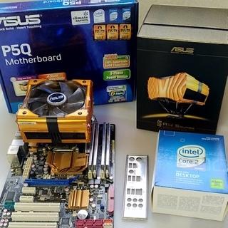 ASUS P5Q マザーボード CPU メモリー クーラー セッ...