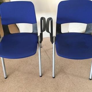 ♪【引取り限定】椅子/イス 2客セット ブルー (F200310...