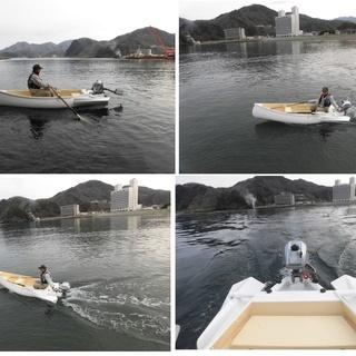 ミニ ボート (船外機、電動モーター駆動)、免許不要の小型ボートです。