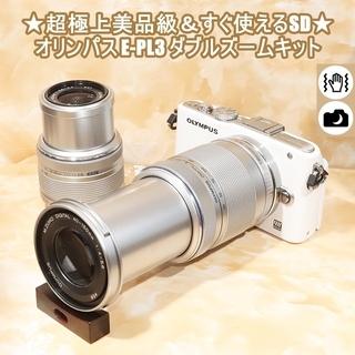 ★超極上美品級&すぐ使えるSD★オリンパス E-PL3 ダブルズ...