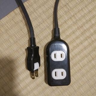 電源タップ 配線しやすい180°スイングプラグ 3個口 3m ブラック