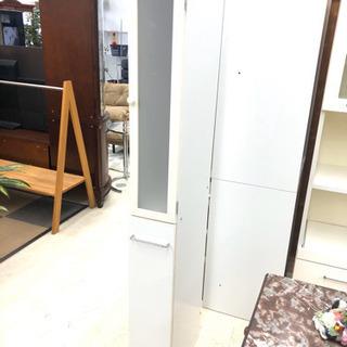 【  食器棚⠀】ホワイト  隙間収納  コンパクト キッチン収納
