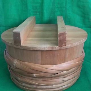 中古 寿司桶 フタ付き すし桶 飯台 外寸54.3  内寸…