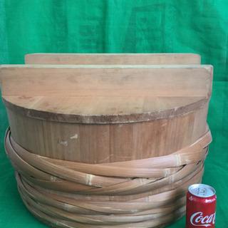 中古 寿司桶 フタ付き すし桶 飯台 外寸54.3  内寸50  深さ23  (cm) - 羽島市