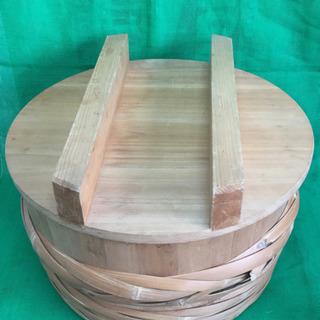 中古 寿司桶 フタ付き すし桶 飯台 外寸54.3  内寸50  深さ23  (cm) - その他