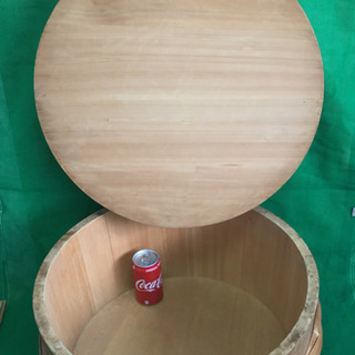 中古 寿司桶 フタ付き すし桶 飯台 外寸54.3  内寸50  深さ23  (cm) − 岐阜県