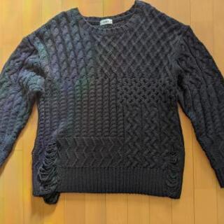 レディース 黒 セーター