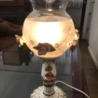 イタリア製 アンティークランプ☆薔薇