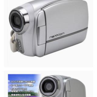 電池対応ムービーカメラ