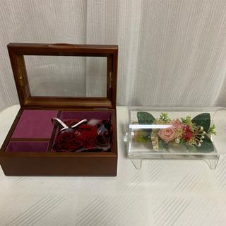 ブリザードフラワー ボックス オルゴール付き 飾り ギフト