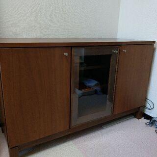 食器棚 飾り棚 おもちゃ収納 ウォールナット