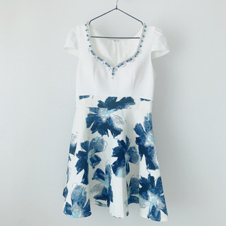 ☆美品(少々難あり)☆キャバドレス 花柄ミニ