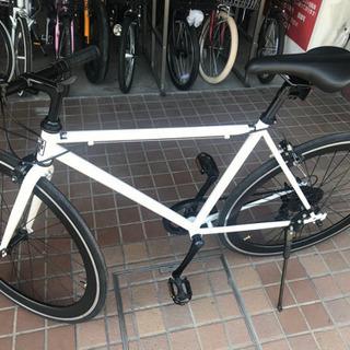 700cシングルクロスバイク シマノ外装7段変速 ホワイト 新車