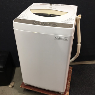 中古☆TOSHIBA 洗濯機 2016年製 5.0K