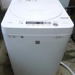 2018年製 SHARP シャープ 4.5㎏洗濯機 美品 ES-...