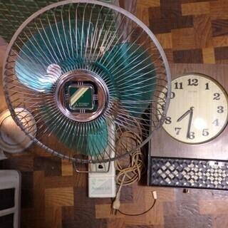 セット売り限定★昭和レトロ家電2点 三菱壁掛扇風機 K30A-C...