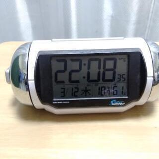 【3/16まで】音の大きな目ぜまし時計 電波時計 あげます