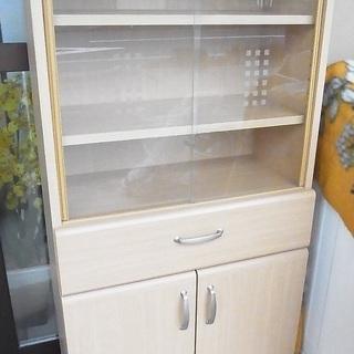 小型 食器棚 飾り棚 陳列棚 ガラス戸