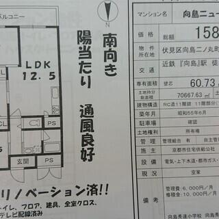 ☆新築並のフルリノベーション済☆ 稀少!!最上階 端部屋!! 向...