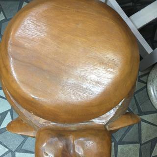 木製チェストチェアー - 家具