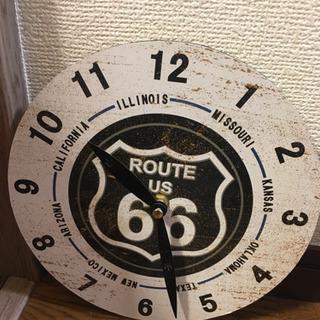 【無料】ROUTE66お洒落壁掛け時計