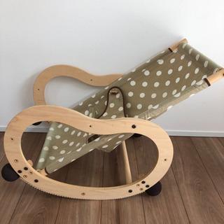 【バウンサー】ビスクル ドット柄 木製
