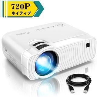 新品未使用 LED 小型プロジェクター 4600lm 1080P...