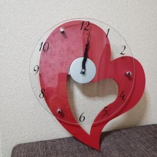 ハート壁掛け時計