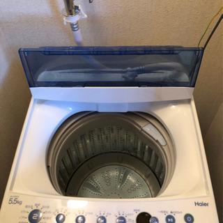 5.5キロの全自動洗濯機・ほぼ新品