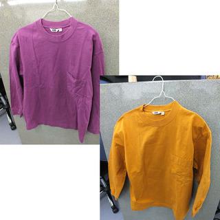 ロングTシャツ ユニクロ サイズM さつまいも ロンT 長袖 紫...