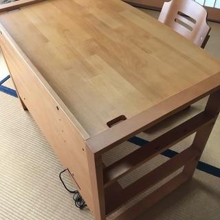 学習机(コンセント付き本棚、椅子セット)