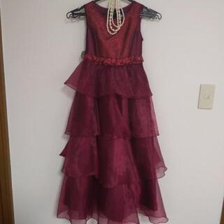子供 キッズ ドレス、ネックレスセット 130
