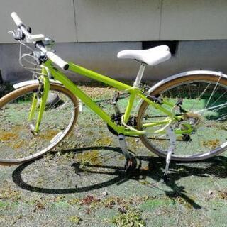 ライムグリーン クロスバイク