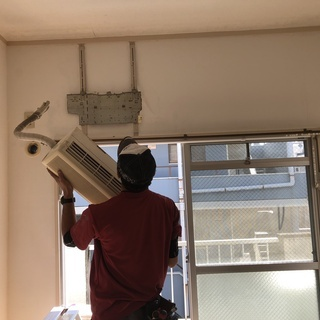 鹿児島市と日置市全域でエアコンの取り付け アンテナ工事します。...