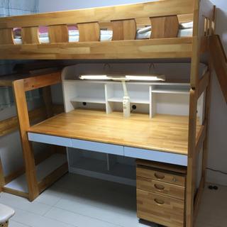二階建ての学習机とベッド(現在交渉中!) - 船橋市