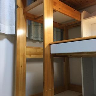 二階建ての学習机とベッド(現在交渉中!) - 家具