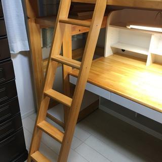 二階建ての学習机とベッド(現在交渉中!) - 売ります・あげます