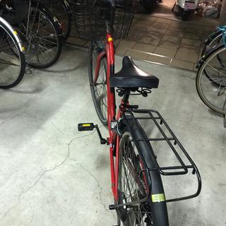 中古自転車 赤×黒 ギア付き26インチ