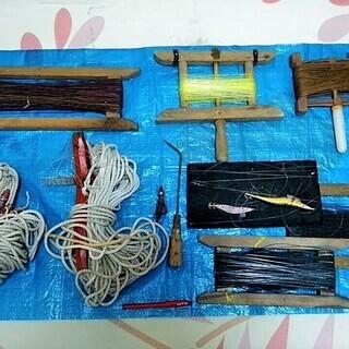 ★★USED10点!!イカ釣り用?・釣り用の糸巻き・ロープ・ジギ...