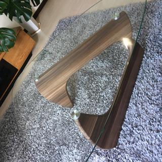 ガラス リビングテーブル