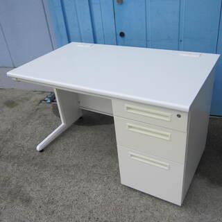 事務机 片袖デスク W1200 D700 オフィスデスク  ホワイト
