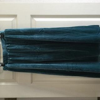 ベロアイレヘムスカート、未使用品、グリーン ◆27◆おまとめ値引...